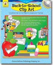 CARSON DELLOSA SCHOOL CLIP ART W CD