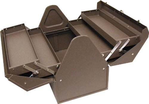 Homak Industrial 18-Inch Cantilever Steel Toolbox, Brown Winkle Powder Coat, BW00210180
