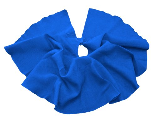 Royal Blue Tree Skirt - LA Linen Jute Burlap Tree Skirt, 60