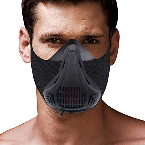 Helen Butler Workout Mask [Black] High Altitude Running Mask Increases Strength, Endurance, Resistance Mask for Air Resistance Training with Carry Case by Helen Butler