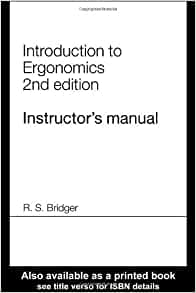 introduction to ergonomics bridger pdf