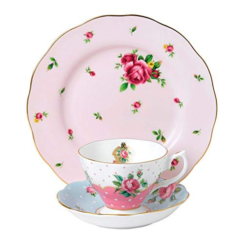 Royal Albert 40034975 Modern Vintage Collection Teapot, Cream, Sugar, 1.25 Liters, White, Pink (Royal Albert Rose Confetti Teapot)