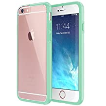 iPhone 6 6s Case, True Color® Crystal Clear Transparent Hybrid Cover Hard Back + Soft Slim Thin Durable Protective Shockproof TPU Bumper Cover Skin [Ultra Clear Collection] – Mint