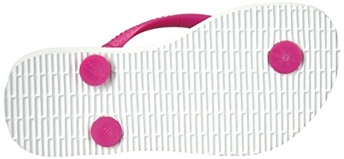 Pictures of Havaianas Kid's Slim Flip Flop Sandals White/Rose 25/26 BR (10 M US Toddler) 7