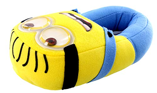 Despicable Me - Mens Slippers, Yellow, Blue 35978-L11-12 (Minion Men Slippers)