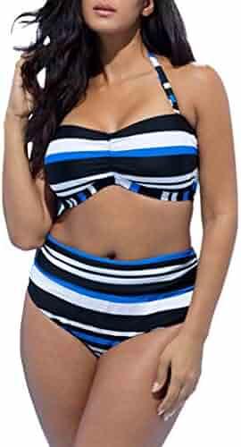 52e649f46d5 (0) Views. RAISINGTOP Plus Size Swimwear Two Piece High Waist Swimsuits for  Women ...