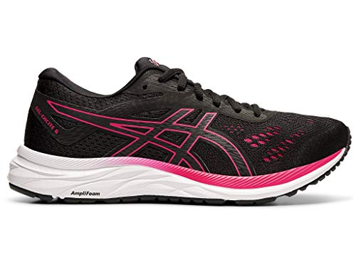 ASICS Women's Gel-Excite 6 Running Shoes, 9.5M, Black/Rose Petal (Best Athletic Shoes For Plantar Fasciitis 2019)