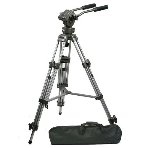CowboyStudio FT9901 Professional Heavy Duty 75mm Video Camera Tripod with Fluid Drag Pan Head by CowboyStudio