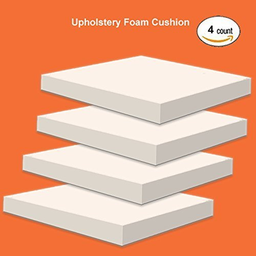 Replacement Seat Cushions - IZO Home Goods Upholstery Foam  2 inch X16 X 16 Pillow Form and Foam Replacement Seat Cushion Foam, Set of 4