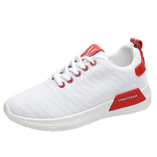 (UOFOCO Leisure Outdoor Breathable Sneakers Women Mesh Fitness Running Sport Shoes White )