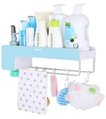Adhesive Bathroom Shelf Storage Organizer Wall Mount No Drilling Shower Shelf Kitchen Storage Basket Rack Shelves Shower ()