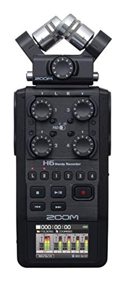 [해외] ZOOM 줌 2020모델 리니어PCM/IC 마이크 캡슐 교원형 핸디 레코더 H6 BLACK