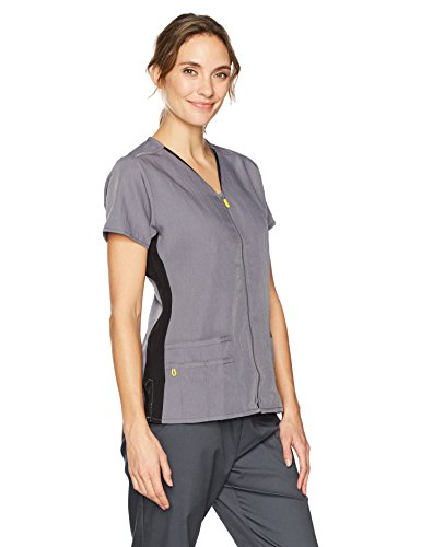 WonderWink Womens Zip Front Top