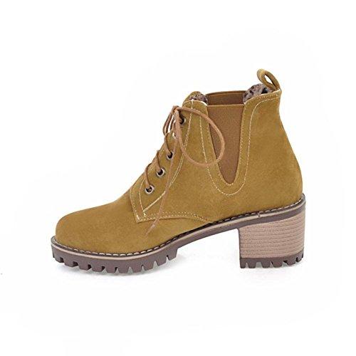 Boots Eur Brown Pizzo Autunno Donna Rotonda Heel Nvxie Macchia 3 Testa Martin uk eur36uk354 Inverno 35 Marrone Ruvido Nero Lavoro Partito HxEqqwZtC