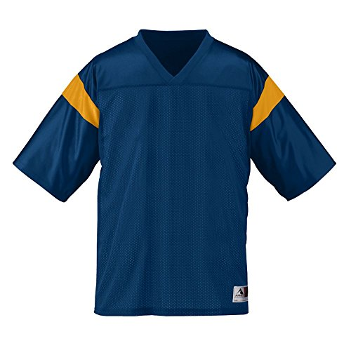 (Augusta Sportswear Boys' PEP Rally Replica TEE M Navy/Gold)