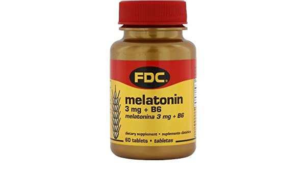 Amazon.com: Melatonin - 3 mg plus B6 - 60 Tablets: Health & Personal Care