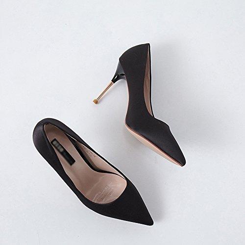 banchetto di Colore Nero con FEIFEI UK5 qualità alta 9cm donna tacco Opzionali dimensioni Moda Scarpe col Materiale CN38 5 Scarpe Estate da da alta 3 alto Scarpe eleganti EU38 colori Verde RaxXnqa