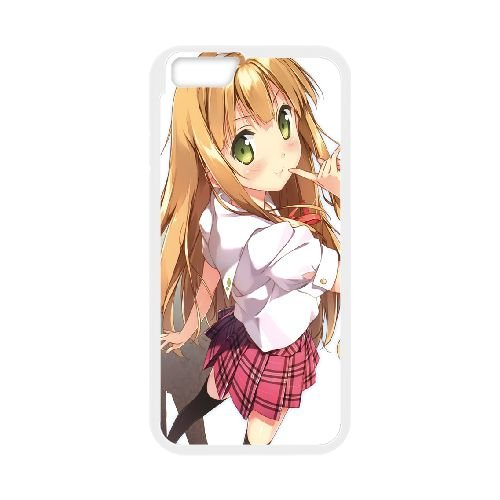 Azusa Azuki coque iPhone 6 Plus 5.5 Inch Housse Blanc téléphone portable couverture de cas coque EBDOBCKCO11294