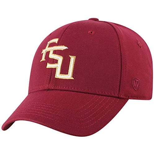 Top of the World Florida State Seminoles Men's Memory Fit Hat Icon, Garnet, One Fit (State Hat Florida)