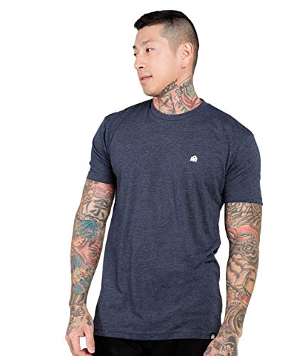 INTO THE AM Mens Premium Basic Tees Ultra-Soft Short Sleeve Modern Fit T-Shirts