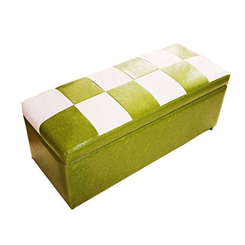 WZ Ottomans Foot stool Ottoman Storage Chest Folding Toy Box Pouffe Lightweight Large Versatile Bench Faux Leather Two Colour (Color : ()