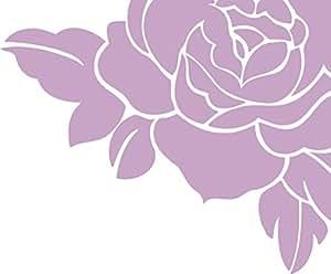 Amazon.com: CORNER ROSE Decal WALL STICKER Decor Art Vinyl