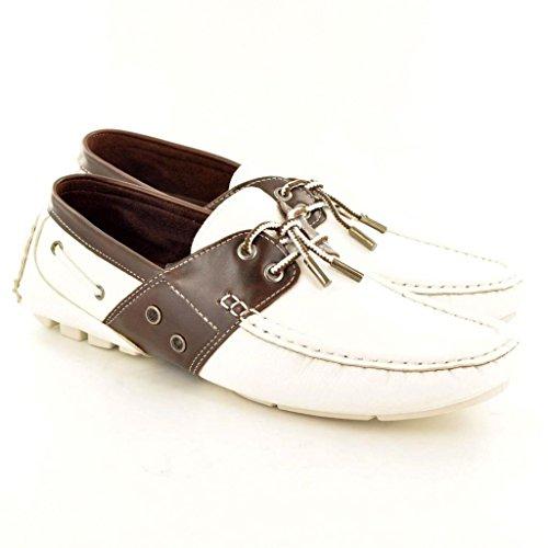 En contraste para hombre con Mocasines zapatos de Mocasines de encaje y detalle con inserciones de