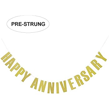 amazon com happy anniversary sign banner party accessory 1 count