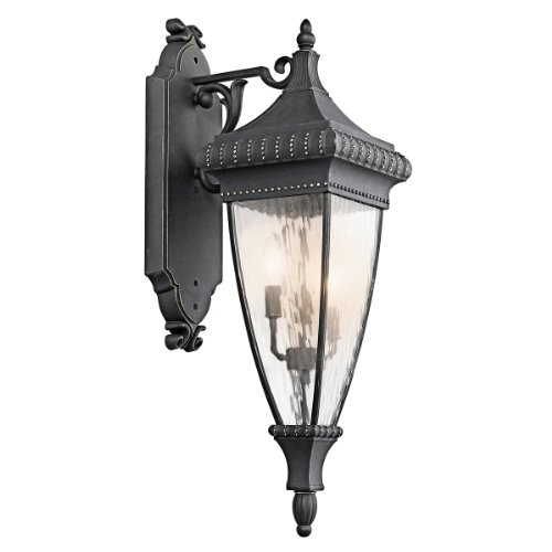 Kichler 49132BKG Three Light Outdoor Wall Mount (Light 3 Collections Venetian)