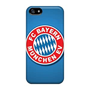 Protector Hard Cell-phone Case For Iphone 5/5s (FBg12677Tmkv) Unique Design Realistic Fc Bayern Munich Pattern
