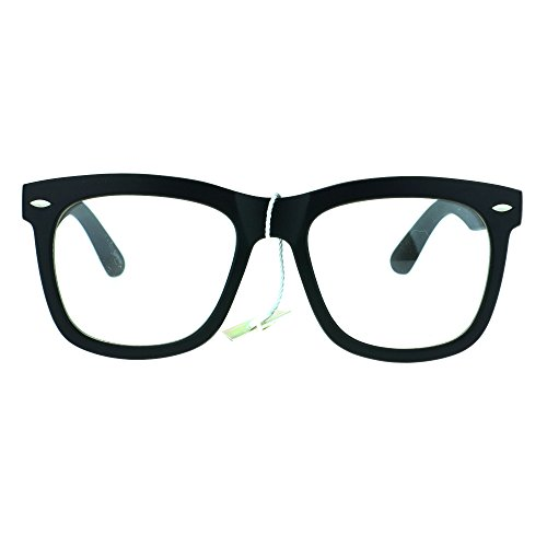 Retro Trendy Oversize Horned Rim Hipster Plastic Clear Lens Eye Glasses Frame Matte - Eyeglass Mens Frames Plastic Clear