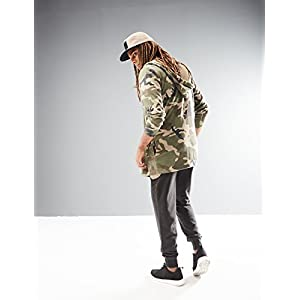 Rebel Canyon Young Men's Camo Open Front Longline Hoodie Sweatshirt Cardigan X-Large Olive Camo