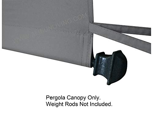 ALISUN Universal Pergola Canopy Top for 8-ft x 10-ft Pergola Structure - Grey (Canopy Fabric Top Only, Size: 196-inch x 88-inch) by ALISUN (Image #2)
