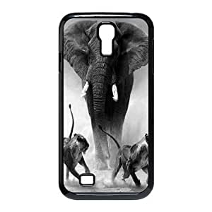 African Elephant Custom Cover Case with Hard Shell Protection for SamSung Galaxy S4 I9500 Case lxa#820599