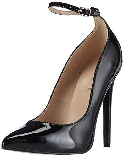 Pleaser SEXY-23 - zapatos con cierre al tobillo de material sintético mujer negro - negro