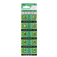 HOWWOH 10 Pieces Watch Battery AG1 1.55V 364 SR621SW LR621 621 LR60 CX60 Alkaline Button Coin Cell Batteries