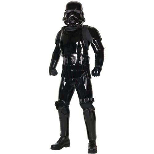 Supreme Edition Black Shadow Trooper Costume - X-Large - Chest Size 50 (Black Stormtrooper Costume)