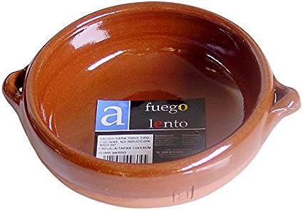 A Fuego Lento Cazuela Tapeo Abombada Horno, Barro, Miel, 13.5 cm