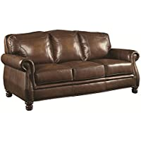 Coaster 503981 Home Furnishings Sofa, Hand Rubbed Brown