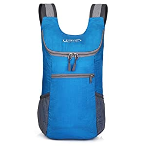 G4Free Lightweight Packable Shoulder Backpack Hiking Daypacks Small Casual Foldable Camping Outdoor Bag for Adults Kids 11L(Blue)