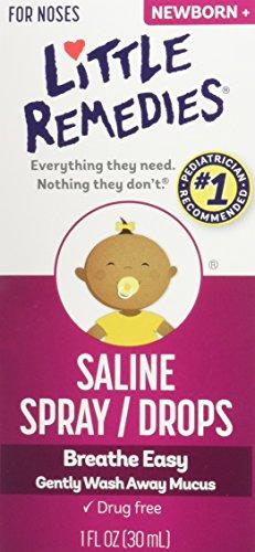 Little Remedies Little Noses Saline Spray-Drops 1 OZ