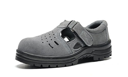 Safety Shoes for Women Non-slip Working Shoes Industrial & Construction Work Trainer Footwear (Choose One Size Smaller)