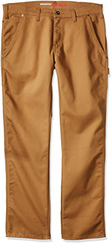 Dickies Men's Tough Max Carpenter Pant, Stonewashed Brown Duck, 38 30