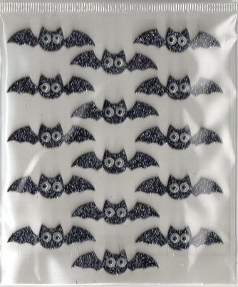 Recollections 3d Halloween Bats W/wiggle Eyes Stickers -