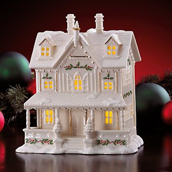 lenox christmas village lighted house figurine