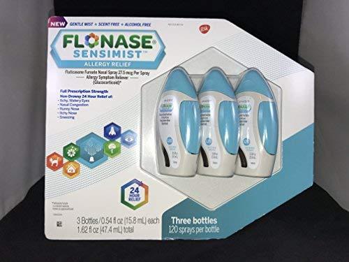 Flonase Sensimist Allergy Relief Nasal Spray, 120 Count ( 3 Pack/ 360 Count ) by Flonase