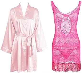 IngerT Bridal Nightwear V Neck Sleepwear Babydolls Dress for Women