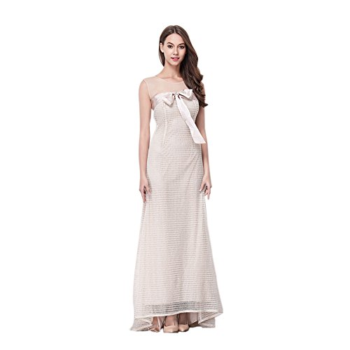 Slim Sleeveless Dress cotyledon Neck Prom Round Gown Women's Fit fYapqT