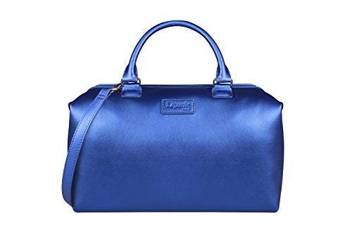 (Lipault - Miss Plume Bowling Bag - Medium Top Handle Shoulder Boston Handbag for Women - Exotic Blue)
