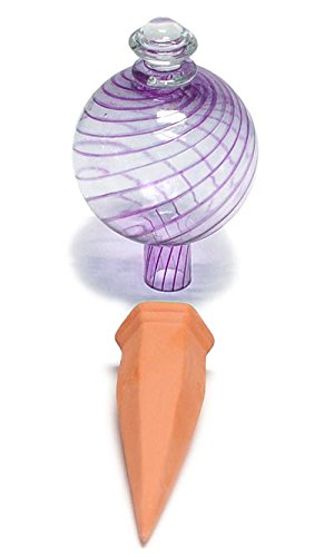 Plant Nanny 12PGL 12oz Purple Watering Globe & Stake Set,...